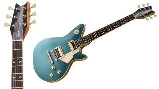 Morifone Guitars Quarzo electric guitar and headstock