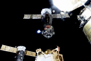 The Soyuz TMA-17M spacecraft is seen just after undocking from the International Space Station on Dec. 11.
