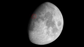 See the lunar crater Copernicus near the moon's terminator on Aug. 27, 2020.
