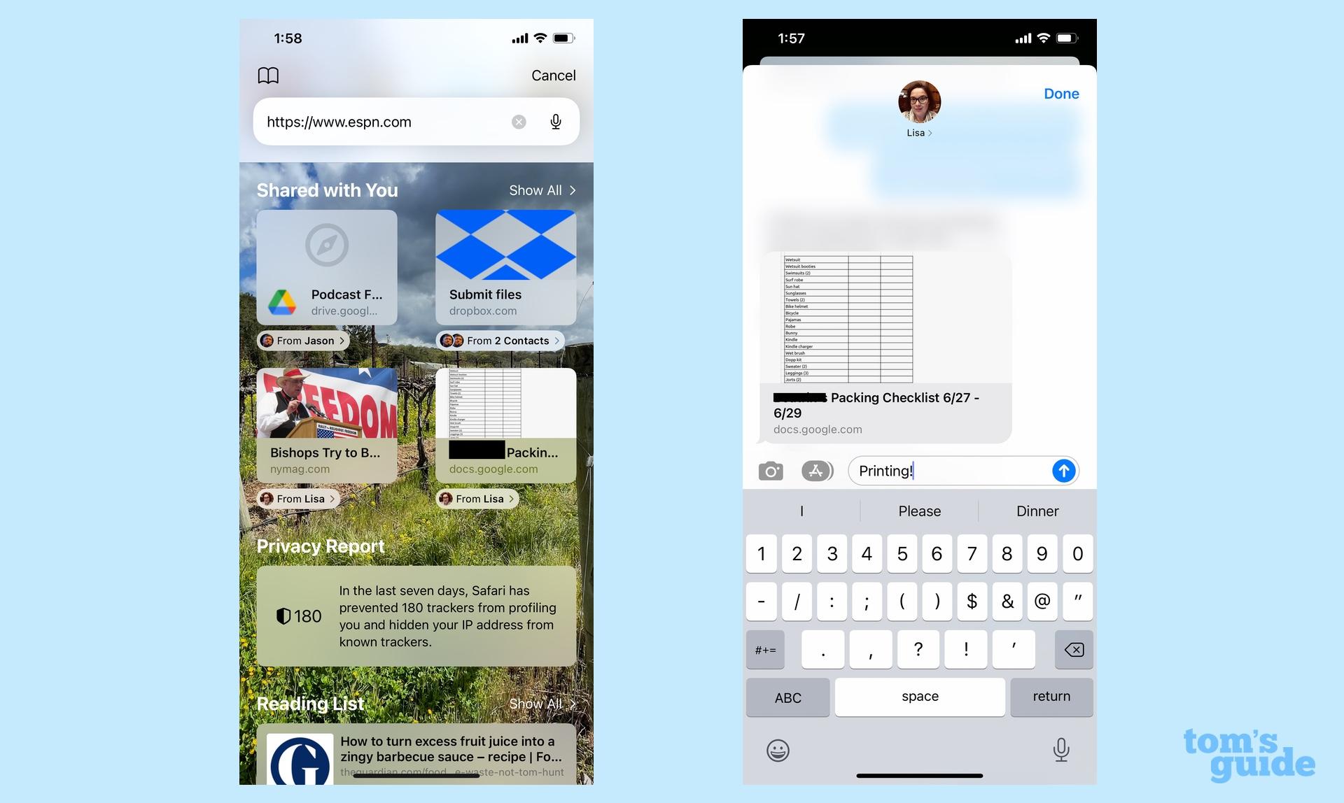 Comparte iOS 15 Safari contigo