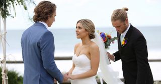 Ash Ashford gives his sister Billie Ashford away to VJ Patterson in Home And Away.