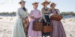 The Little Women 2019 cast sisters on the beach