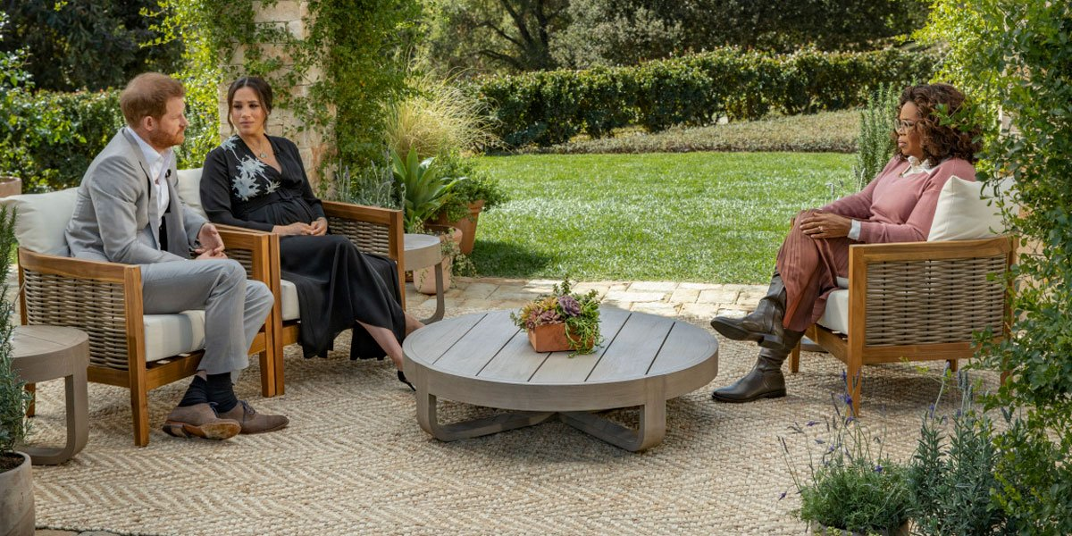 Oprah questioning Prince Harry 2021 on CBS