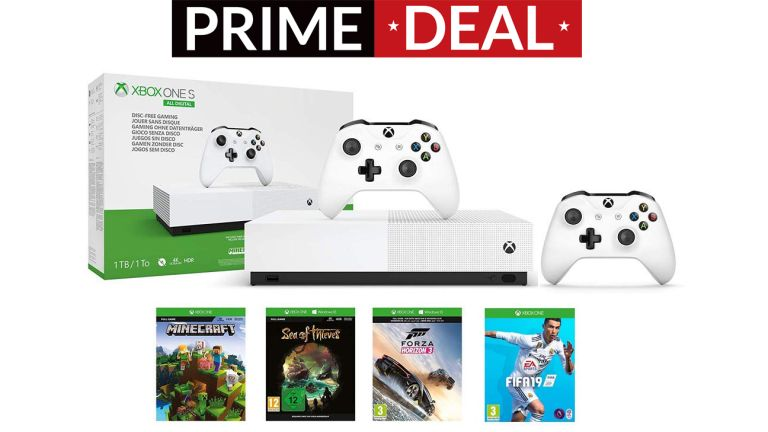 Amazon Prime Day MEGA DEAL on Xbox One S All Digital + 4 games + Extra controller is nearly over | T3