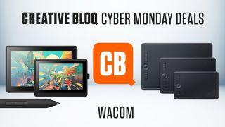 Wacom Cyber Monday promo featuring various Wacom tablets