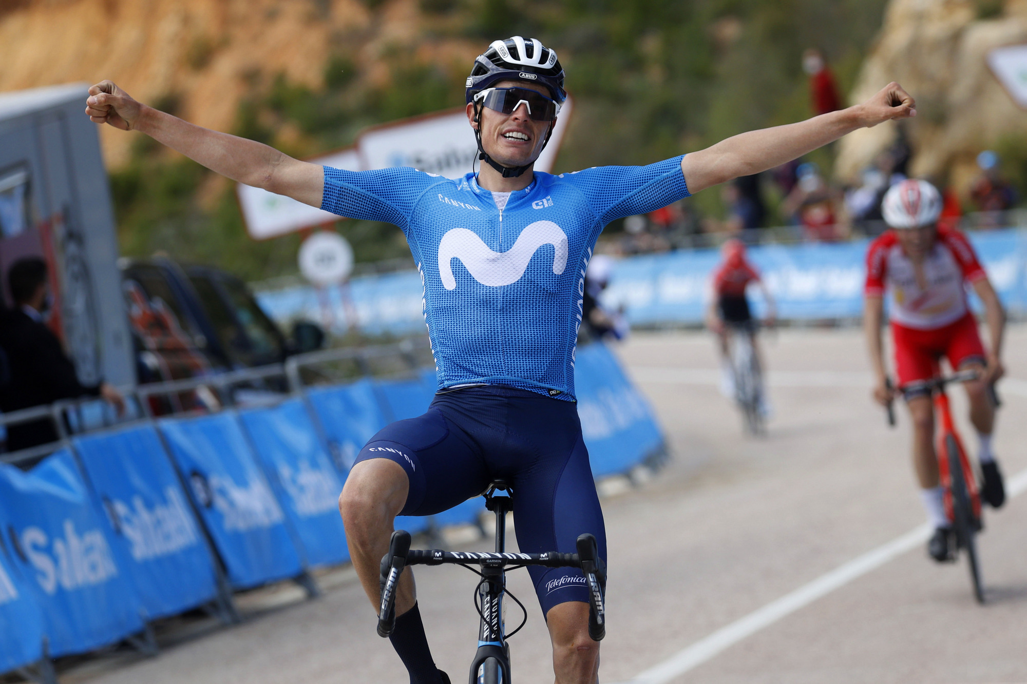 Volta a la Comunitat Valenciana 2021 - 72nd Edition - 3rd stage Torrent - Alto de la Reina 165 km - 16/04/2021 - Enric Mas (ESP - Movistar Team) - photo Luis Angel Gomez/BettiniPhoto©2021