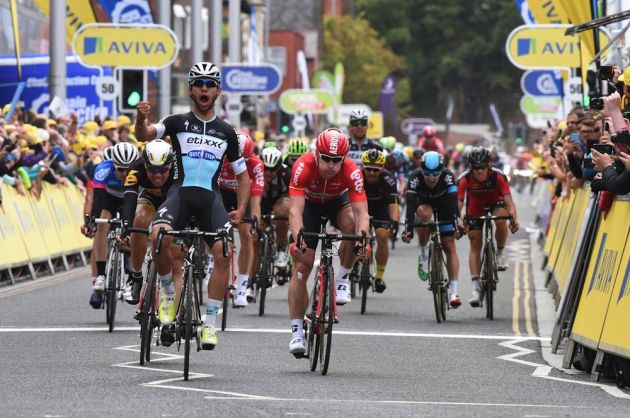 Fernando Gaviria wins stage four of the 2015 Tour of Britain