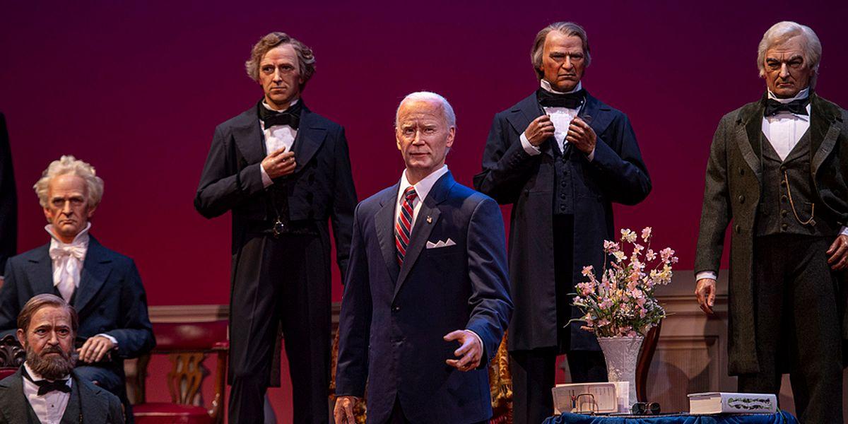Joe Biden Animatronic in the Hall of Presidents