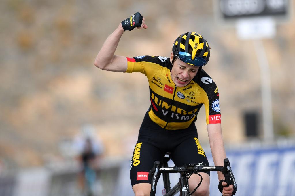 Jonas Vingegaard (JUmbo-Visma) won on Jebel Jais at the UAE Tour