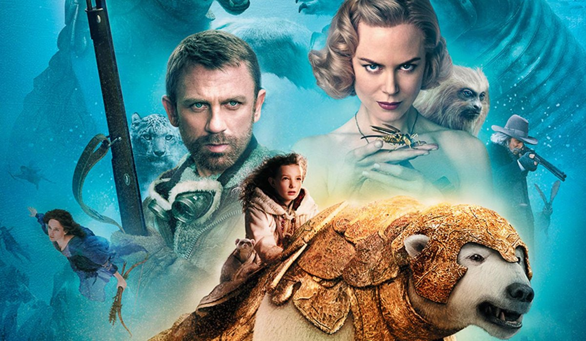 The Golden Compass Daniel Craig and Nicole Kidman loom over young Dakota Blue RIchards and her polar