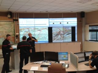 Matrox Videos Walls Installed in French Fire Fighter Office