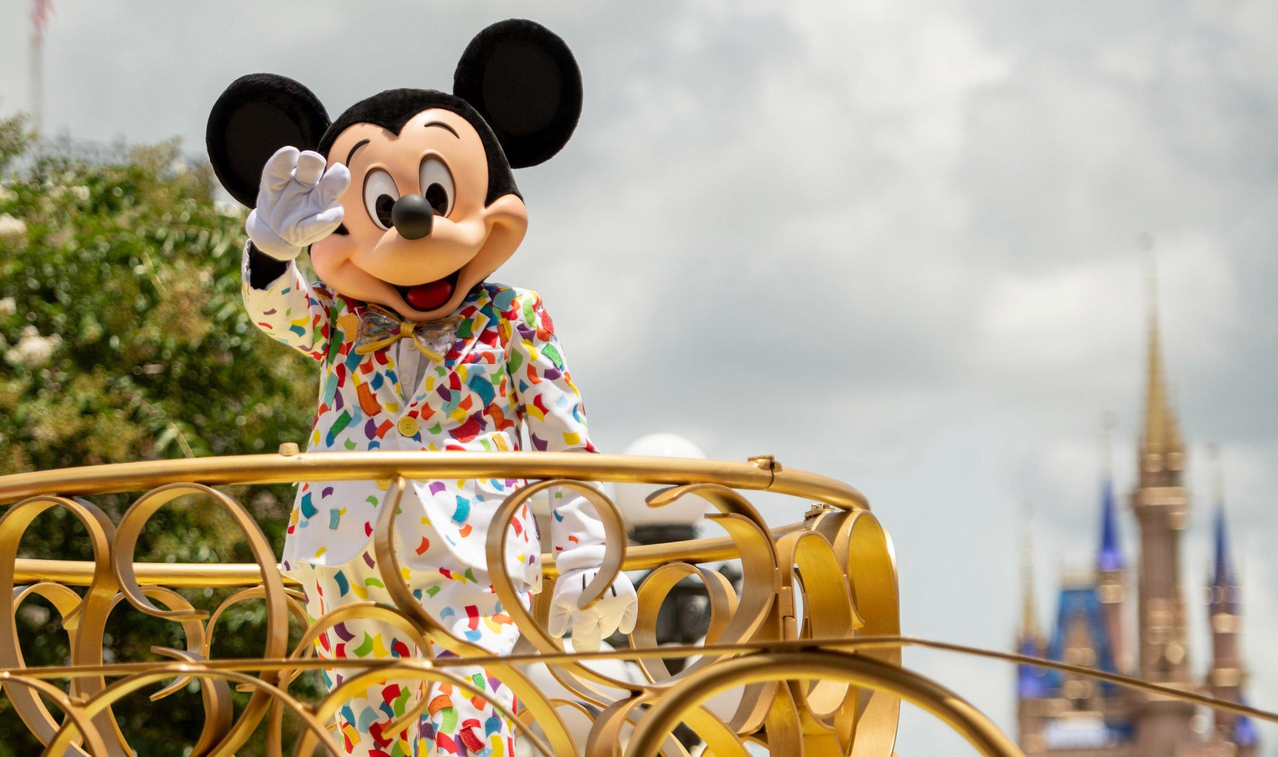 Mickey Mouse in parade at Magic Kingdom