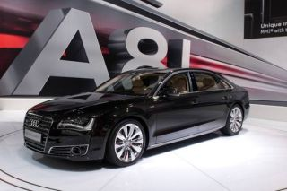 A8 Long model from Audi at the Moscow International Automobile Salon 2010