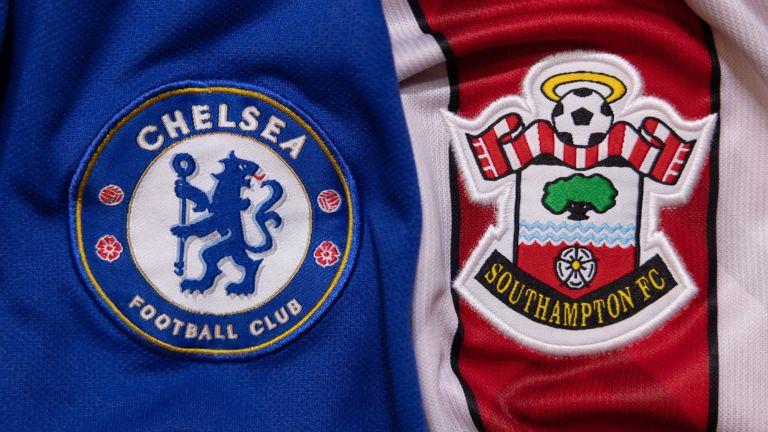 Chelsea and Southampton football jerseys