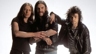 Motorhead in 1980: 'Fast' Eddie Clarke, Lemmy and Phil 'Philthy Animal' Taylor