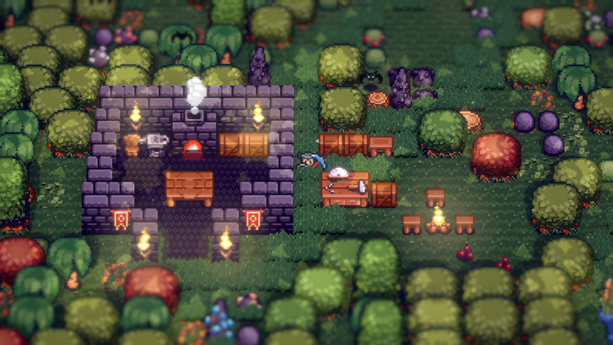 Tinkertown is a Terraria-style multiplayer sandbox coming to Early Access in December