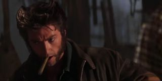 Logan aka Wolverine spotting Rogue for the first time in the bar before a tense showdown in X-Men