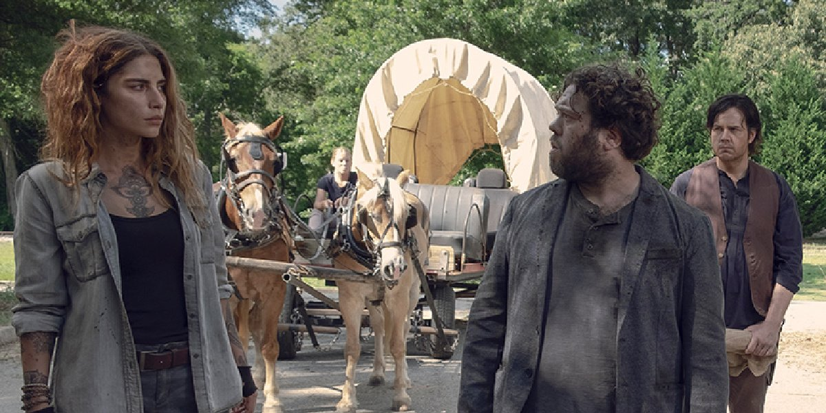 Magna and Luke in The Walking Dead.