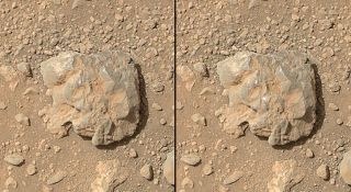 Laser Flash on Martian Rock