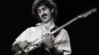 Frank Zappa performs on stage at Ahoy on 15th May 1982 in Rotterdam, Netherlands.