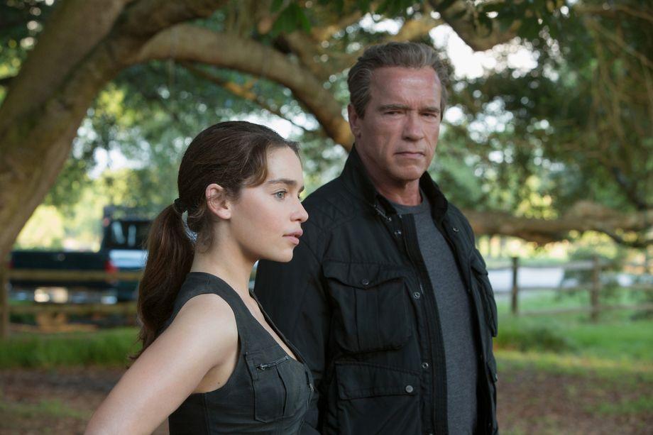 Emilia Clarke and Arnold Schwarzenegger prepare for their destiny