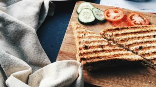 Beautiful toasted sandwich