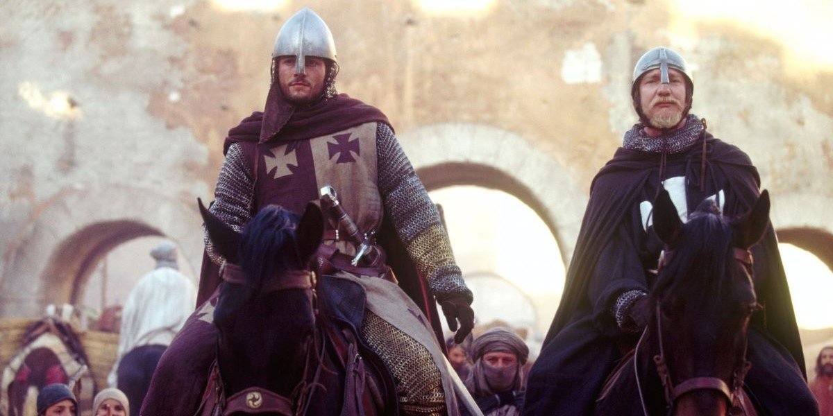 Orlando Bloom and David Thewlis in Kingdom of Heaven