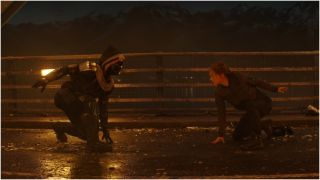 Taskmaster and Natasha Romanoff in Black Widow