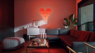 Nanoleaf Canvas light panels in shape of heart