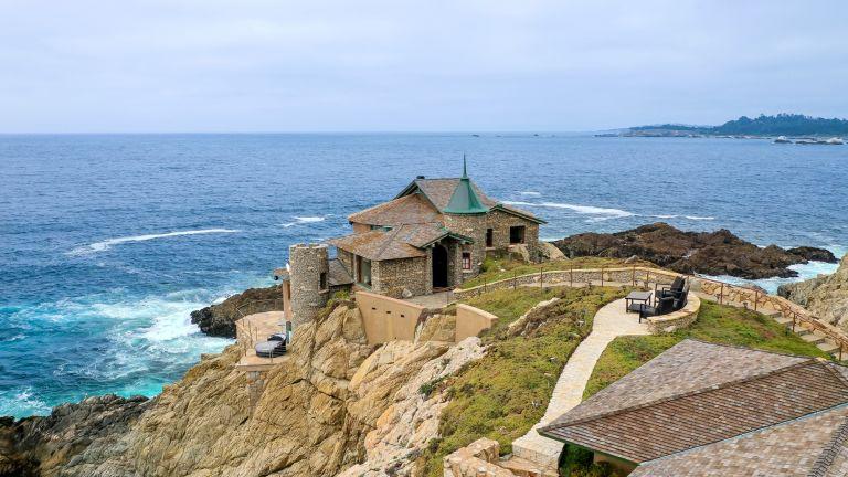 Kim Novak's house exterior beachside home in Carmel