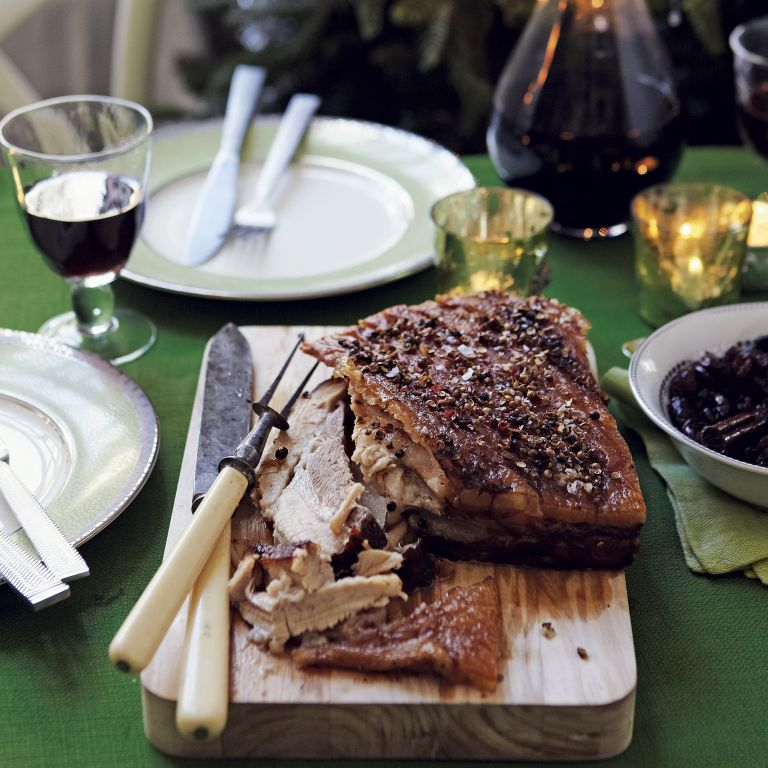 Crispy belly pork-dried cranberry and cherry chutney-Christmas-Christmas Food-Woman and home