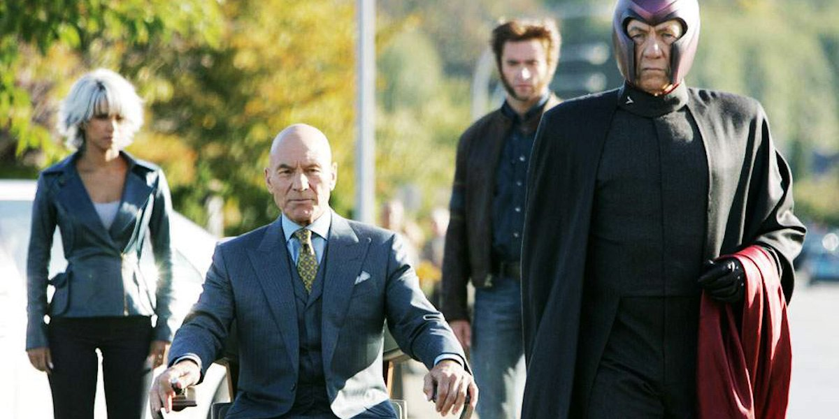 Storm, Professor X, Wolverine, Magneto in X-Men