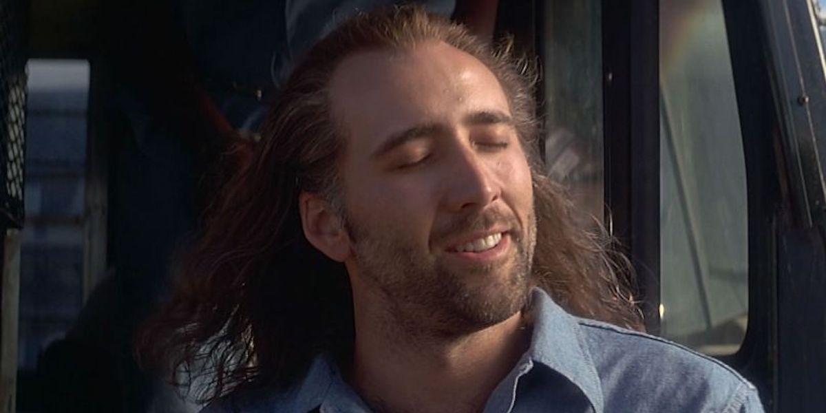 Nicolas Cage soaking in the sun in Con-Air