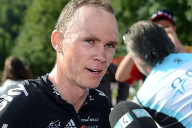 Chris Froome at finish, Vuelta a Espana 2012, stage 17
