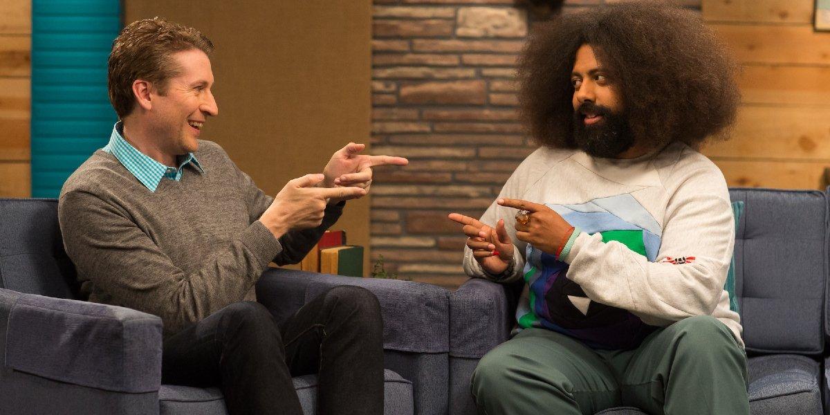 Scott Aukerman and Reggie Watts on Comedy Bang! Bang!