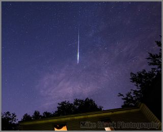 Early Perseid Meteors Over New Jersey