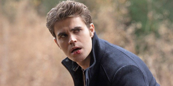 The Vampire Diaries Stefan Salvatore blood on his mouth Paul Wesley The CW