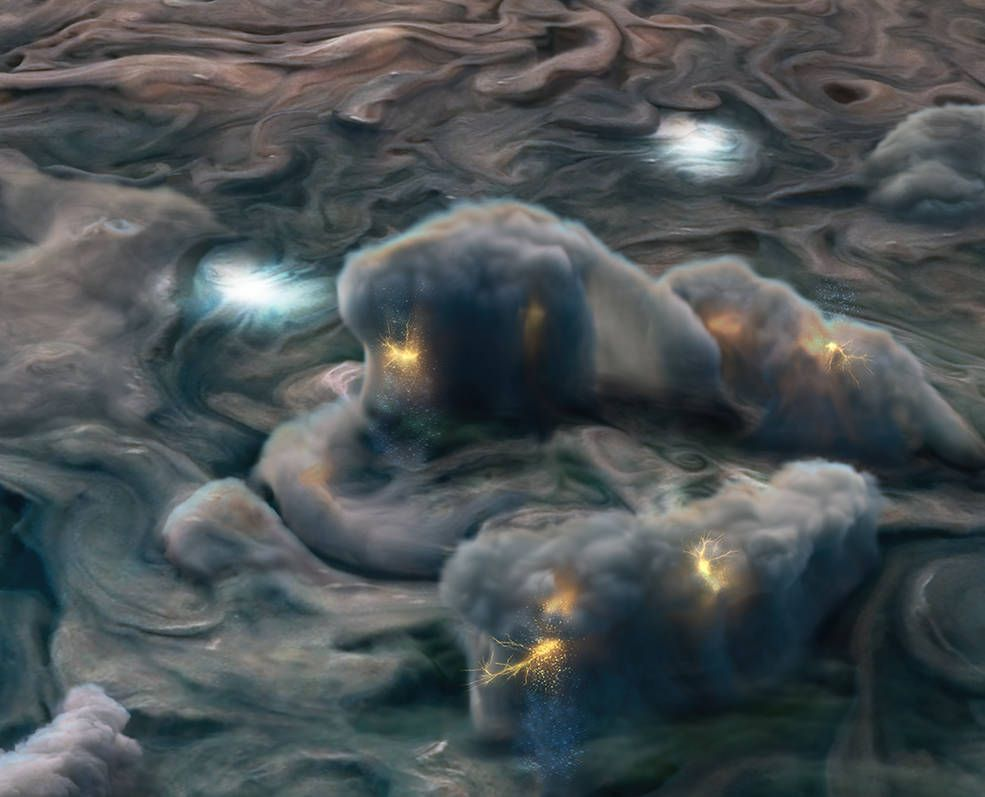 Violent thunderstorms on Jupiter may form 'mushballs' that fall from the sky