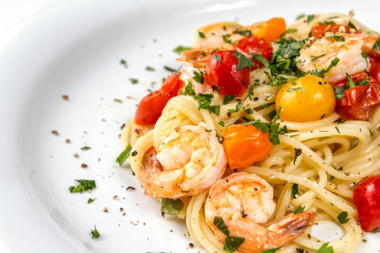 dinner idea: prawn pasta
