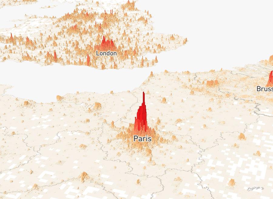 Population Mountains: Paris