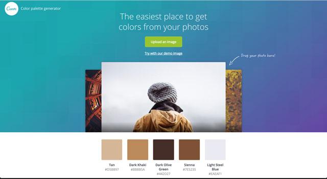 Canvas tool colour selection screen