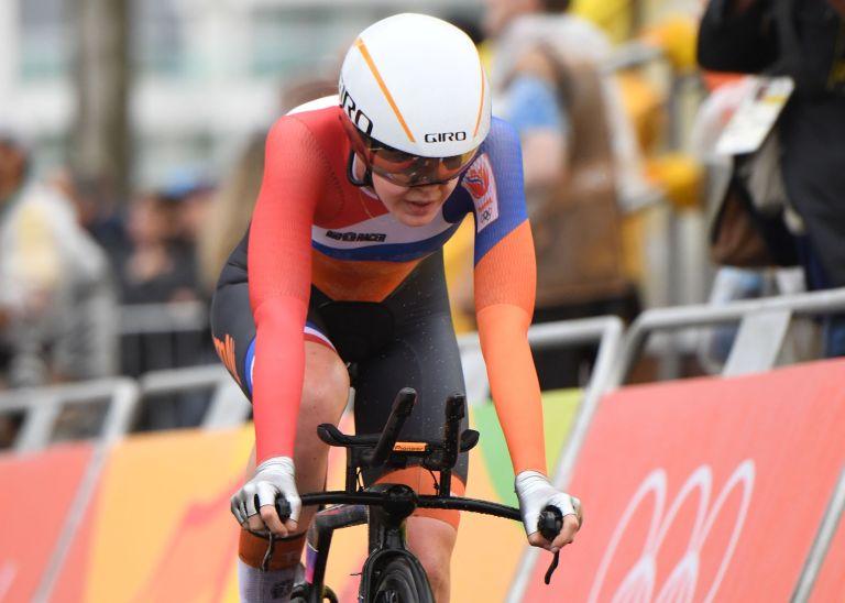 Anna van der Breggen winning bronze at the Rio 2016 Olympic Games