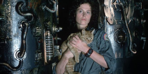 Alien Ripley and Jonesy together in the ship