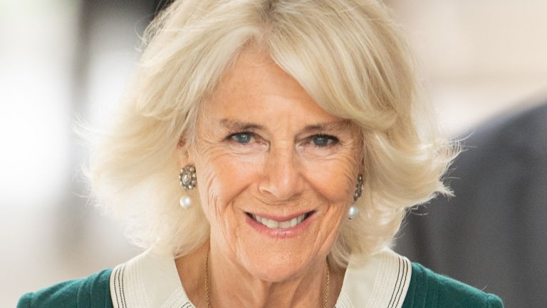 Camilla, Duchess of Cornwall visits Maggie's Barts at St Bartholomew's Hospital on October 07, 2020
