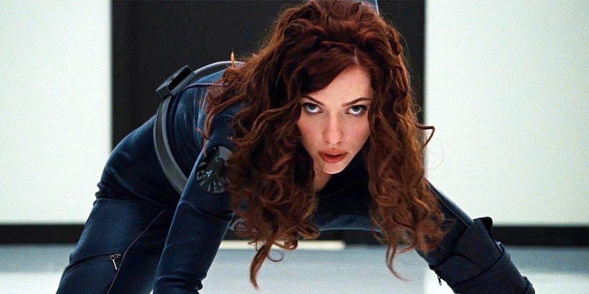 Black Widow posing in Iron Man 2