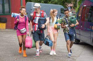 Hollyoaks Juliet, Ollie, Imran and Brooke Hathaway