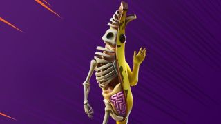 Dissected Peely banana character from Fortnite