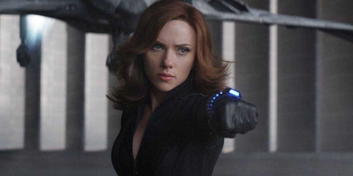 Scarlett Johansson as Black Widow in Captain America: Civil War