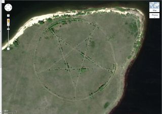 Mysterious Pentagram on Google Maps Explained | Live Science