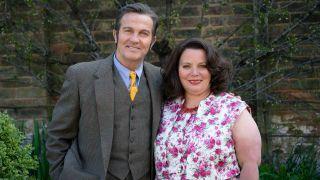 The Larkins - Pop Larkin [Bradley Walsh] and Ma Larkin [Joanna Scanlan].